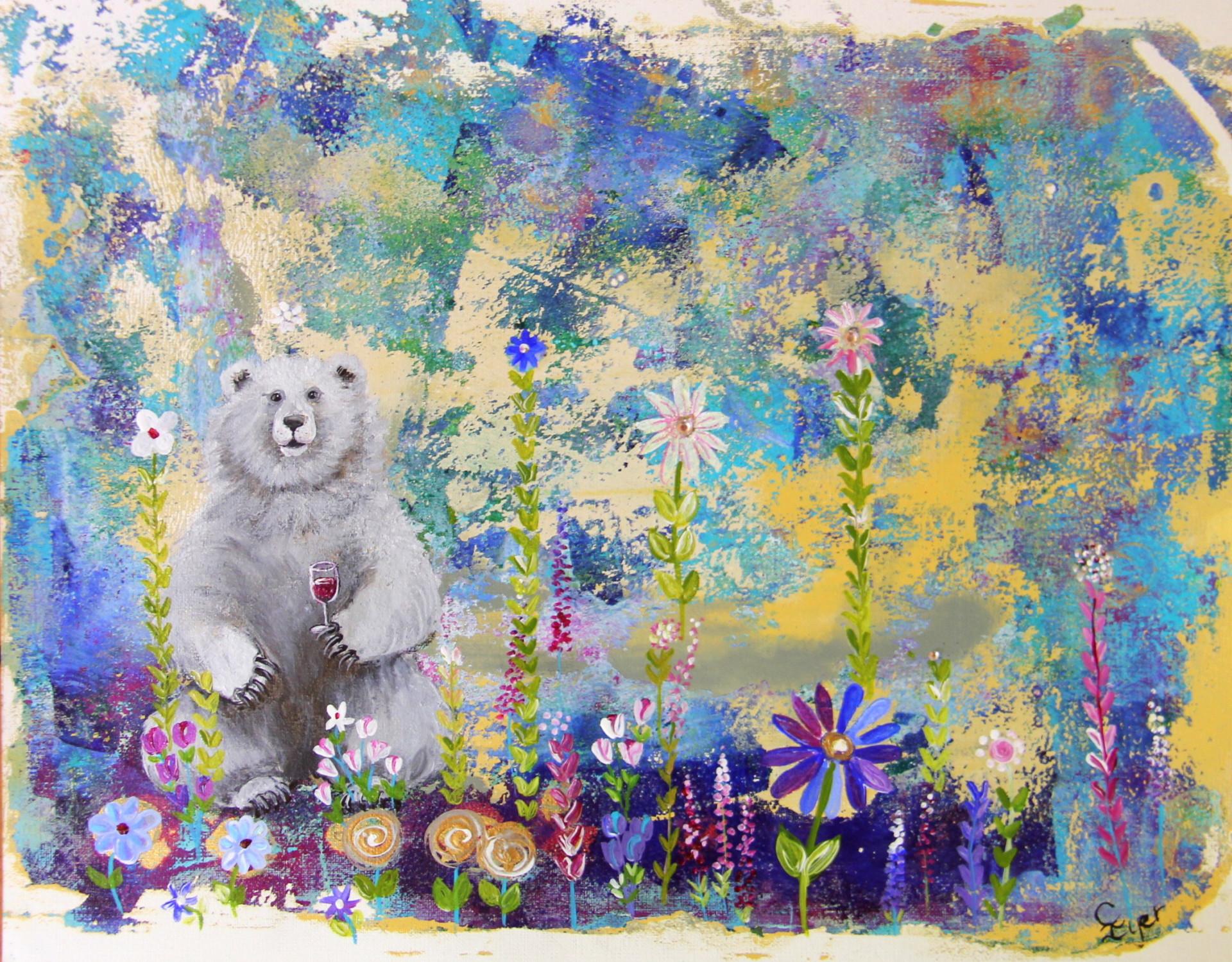 Floral Polar Bear