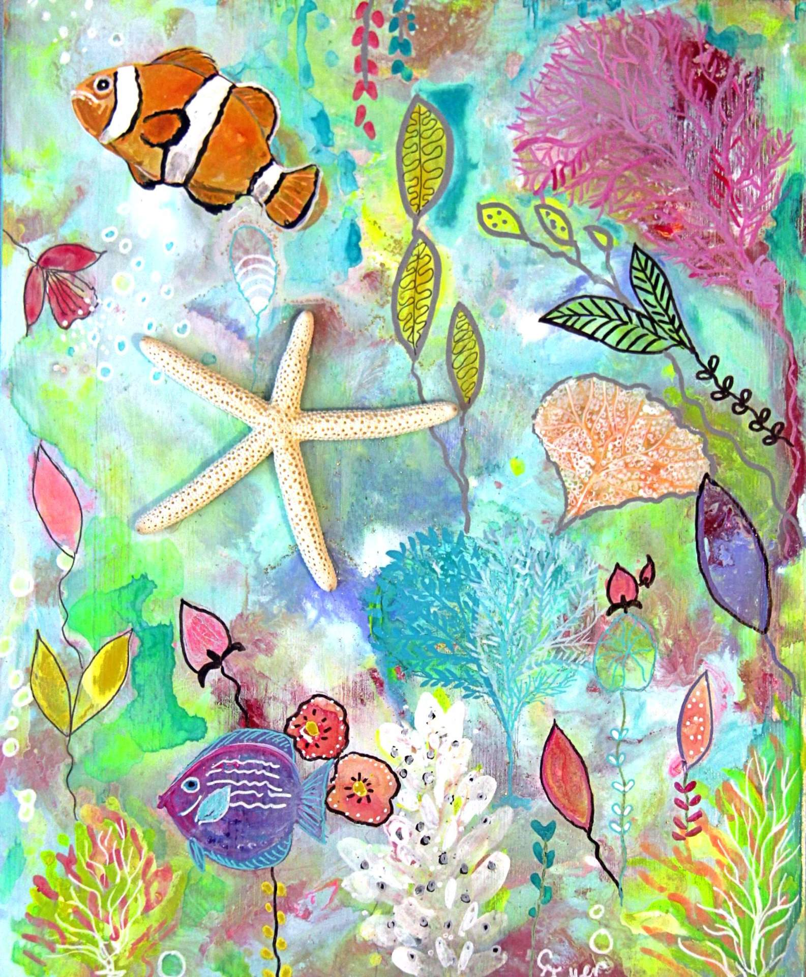 Mixed Media Starfish