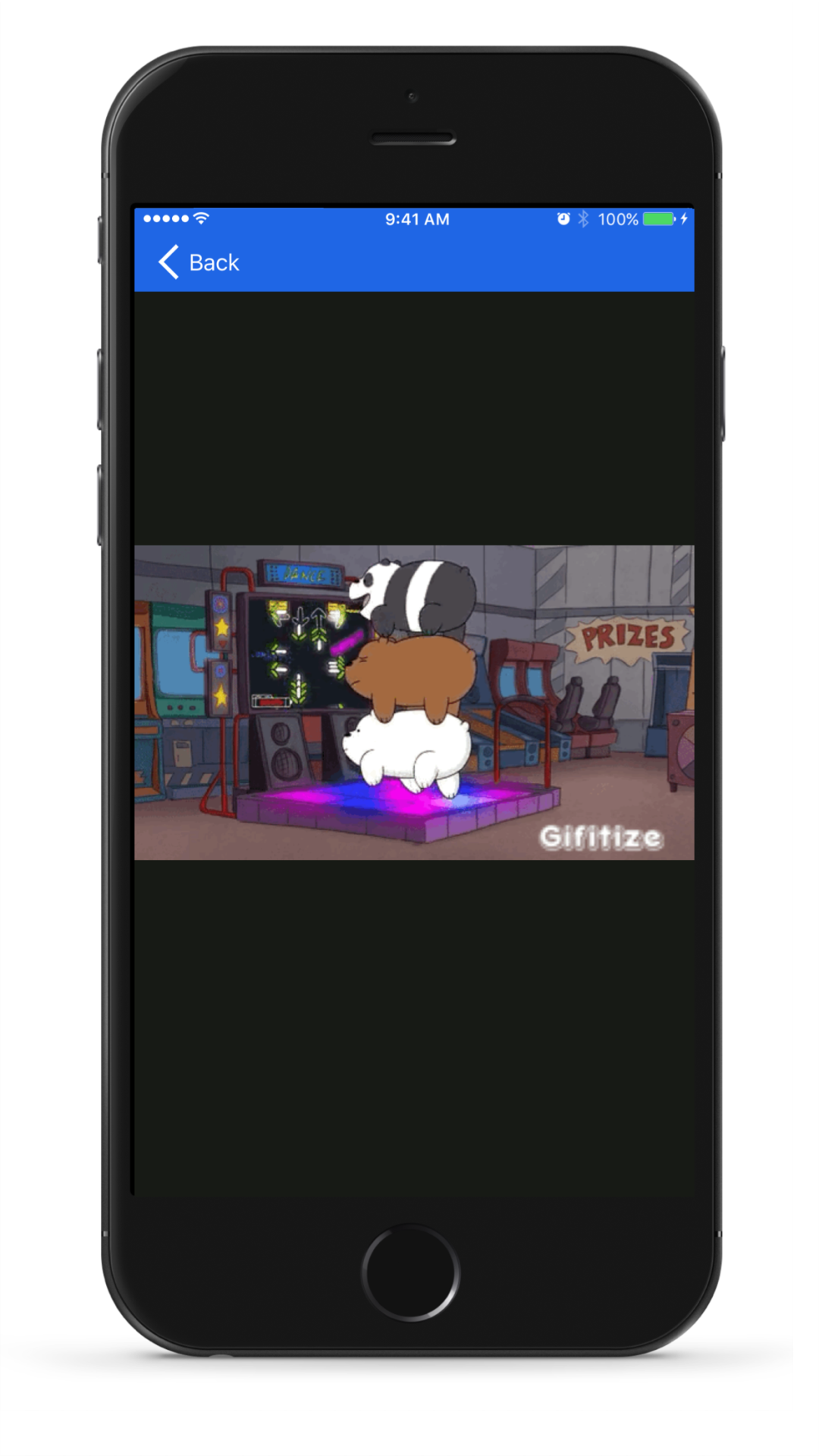 Gifitize full-screen view
