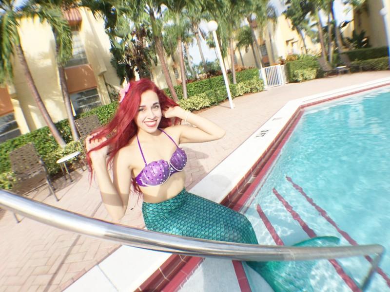 Our very Mermaid princess striking a pose!