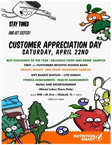 Nutrition S'Mart Customer Appreciation