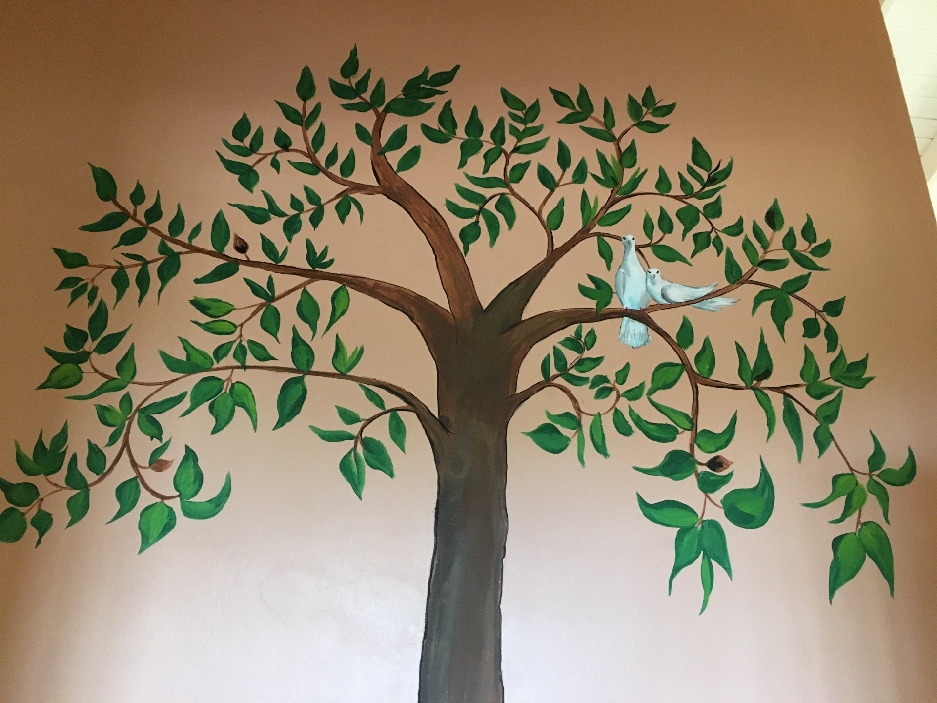 How I made a Enchanted tree mural.