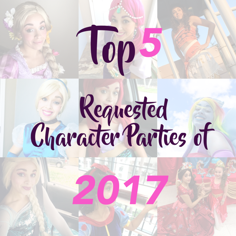 Top 5 party character of 2017