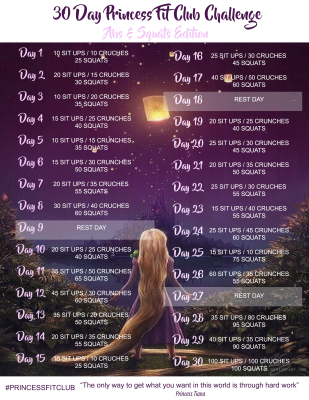 Princess fit club ABS and Squat challenge