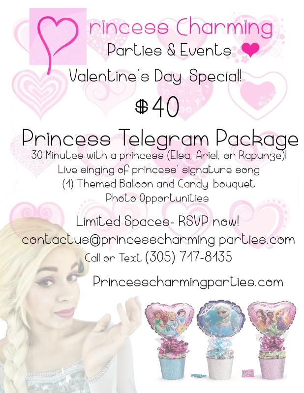 Valentine's Day Princess Visit