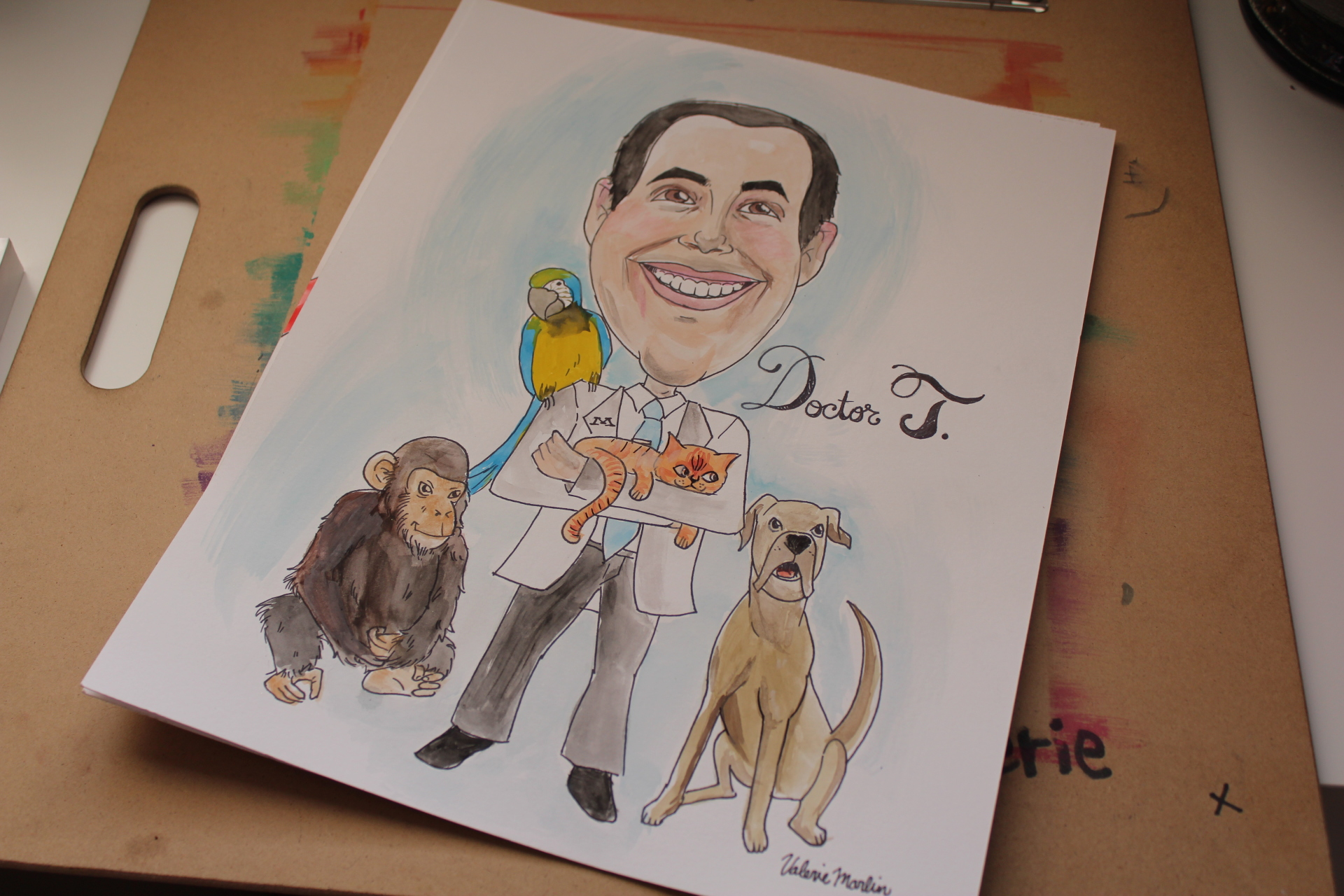 """""""Doctor T"""" Caricature art commission"""