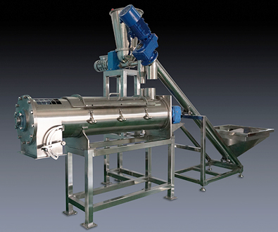 CONTINUOUS PADDLE TYPE POWDER MIXER