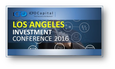 iCFO Announces Investment Meeting to be held in Los Angeles on Friday, May 27th