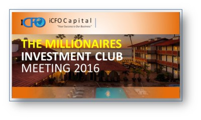 April 21st - The Millionaires Investment Club Meeting, San Diego