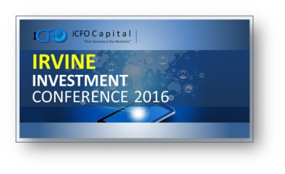 May 14th - iCFO Capital Investment Conference, Irvine CA