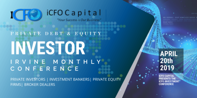 June 11th - iCFO Capital Investment Conference, Irvine CA