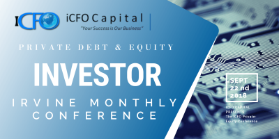 March 12th - iCFO Capital Investment Conference, Irvine CA