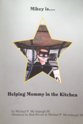 Mikey is.... Helping Mommy in the Kitchen