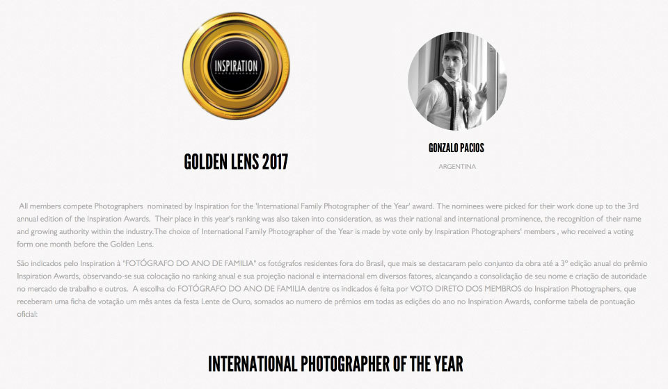 Nominación lente de oro 2017