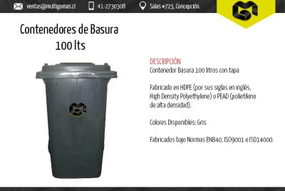 Contenedor de basura de 100 Lts