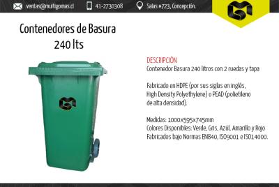 Contenedor de basura de 240 Lts