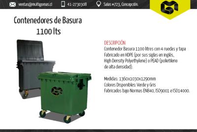Contenedores de basura 1100 Lts