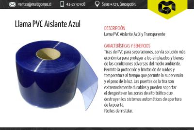 Llama PVC aislante azul