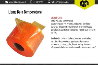 Llama baja temperatura