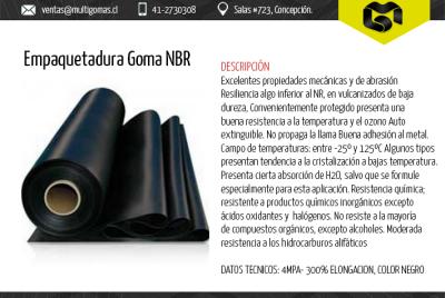 Empaquetadura goma NBR