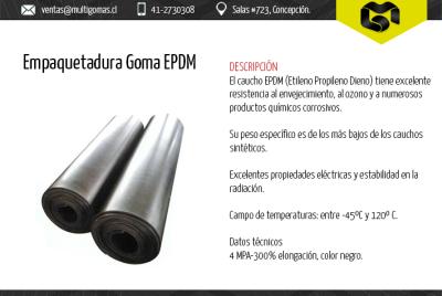 Empaquetadura goma EPDM