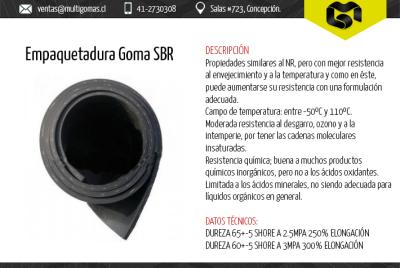 Empaquetadura goma SBR