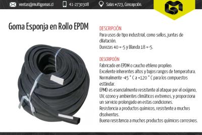 Goma Esponja en Rollo EPDM