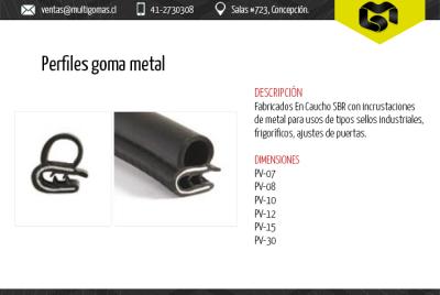 Perfiles goma metal