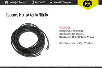 Rodones Macizo Acrilo Nitrilo