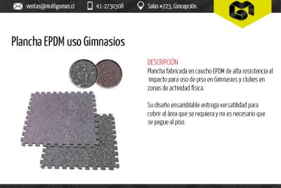 Plancha EPDM uso Gimnasios