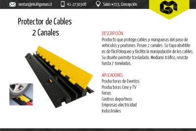 Protector de cables 2 canales