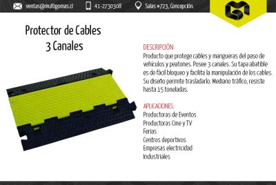 Protector de cables 3 canales