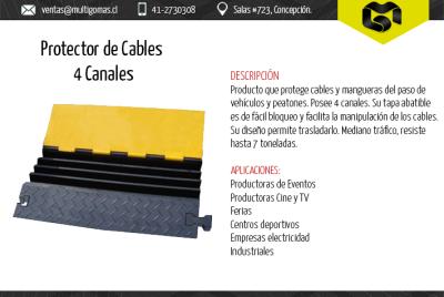 Protector de cables 4 canales