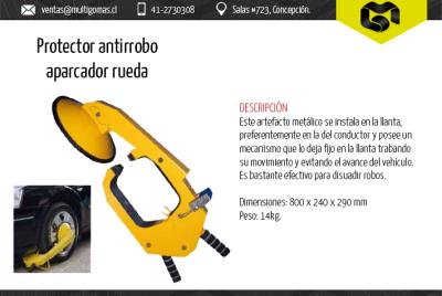 Protector antirrobo aparcador de rueda