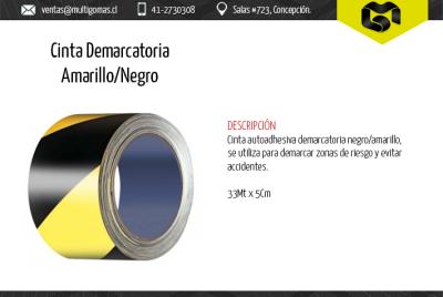 Cinta amarilla/negra demarcatoria