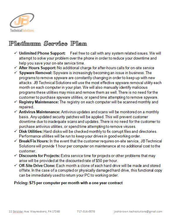 Platinum Service Plan