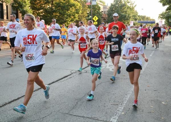Running down Wilson Ave.