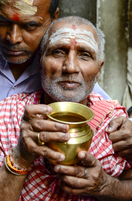 FATHER AND SON. VARANASI, INDIA, 2016.