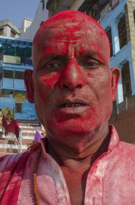 RED FACE, VARANASI, INDIA, 2016.