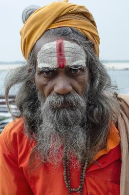 HOLY-MAN, VARANASI, INDIA, 2016.