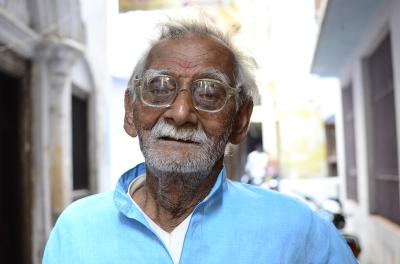 MAN WITH GLASSES, VARANASI, INDIA, 2016.