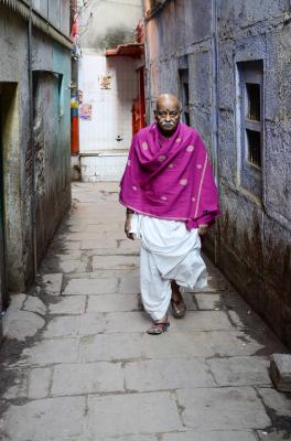 MAN IN LANE, VARANASI, INDIA, 2016.