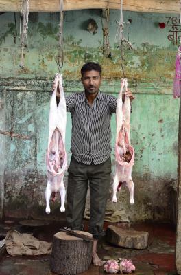 MEAT MARKET, VARANASI, INDIA, 2016.