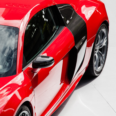 Red Audi.