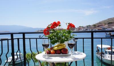 Chalki port view
