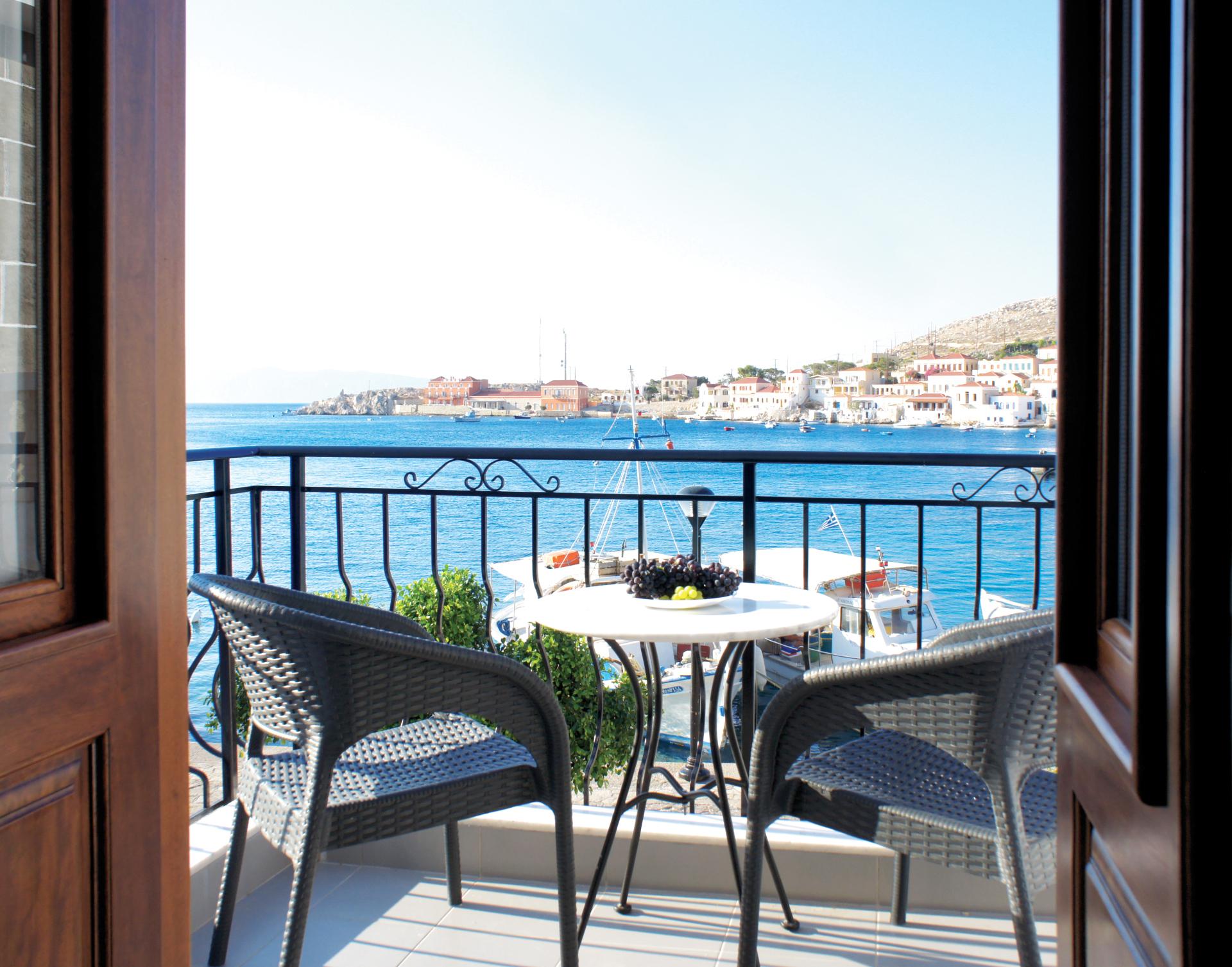 The balcony, sea view