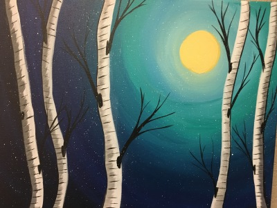Night Time Birch