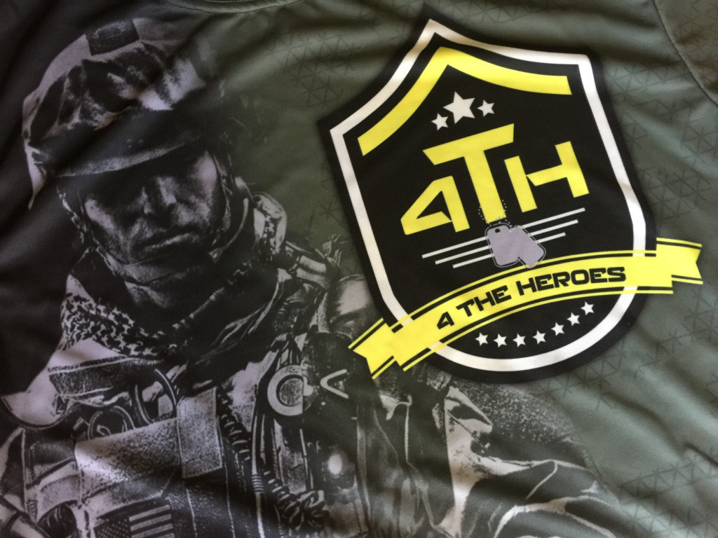 Front of our 4 the Heroes Jersey