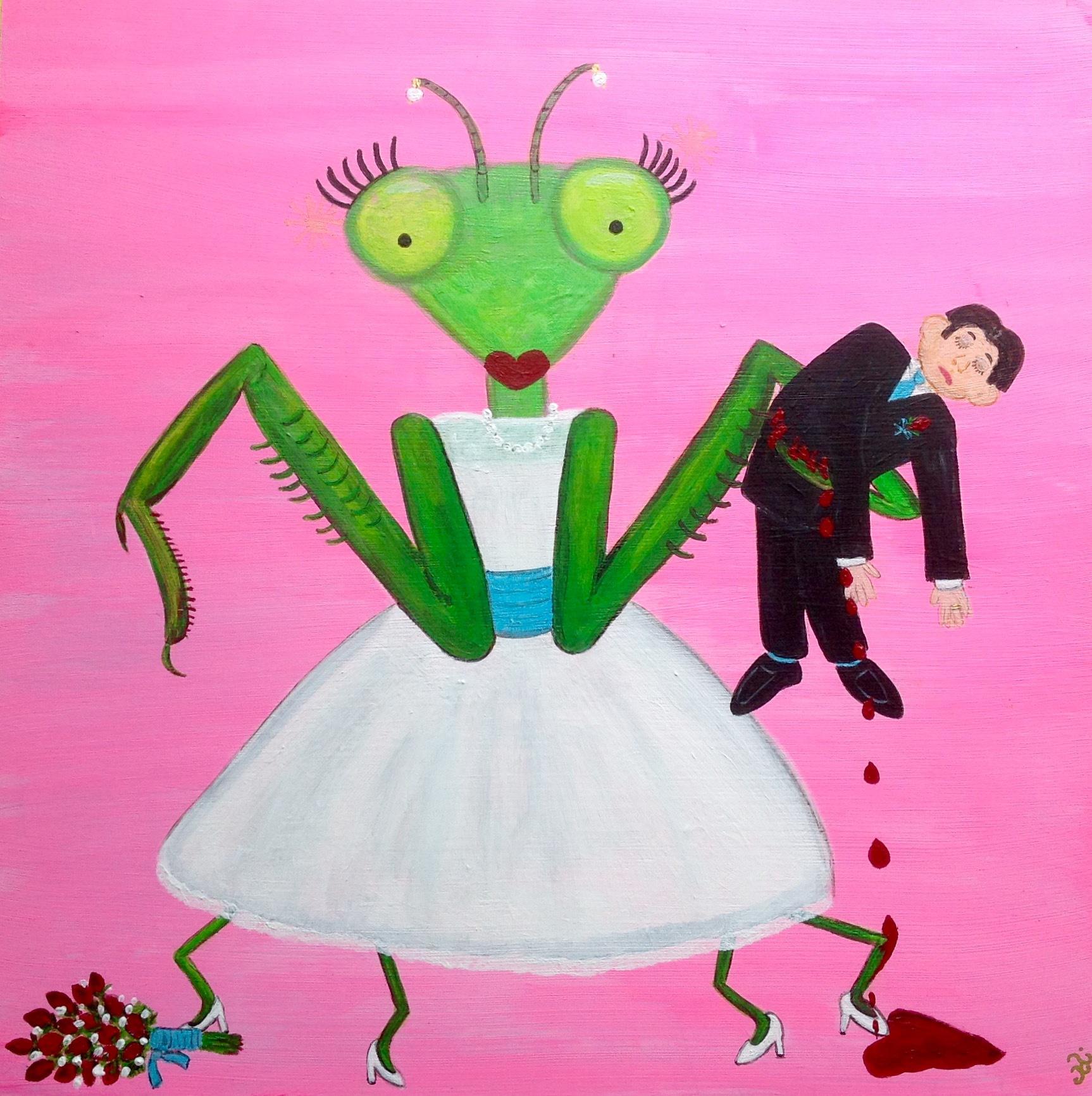Praying mantis wedding