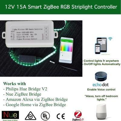 Smart 12V ZigBee RGB Strip Light Controller